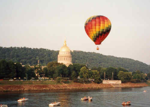 Charleston WV, 1999. Sternwheel Regatta Hot Air Balloon Ralley.