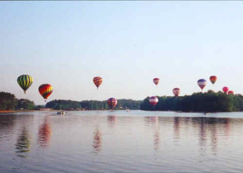 Kathy Schott took this at the Lake Gaston Hot Air Balloon Classic, Gasburg, VA May 23, 1999